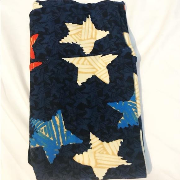 96c1c0ba4b862 LuLaRoe Pants | Nwt Americana Tall Curvy Tc Leggings | Poshmark